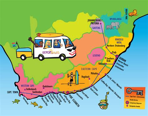 Overland from Cape Town to Johannesburg with Baz Bus