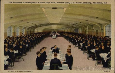 The Regiment of Midshipmen at Noon Day Meal, Bancroft Hall