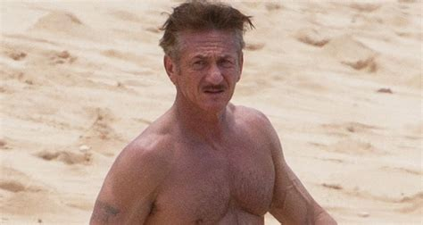 Sean Penn Goes Shirtless for Honolulu Beach Day with