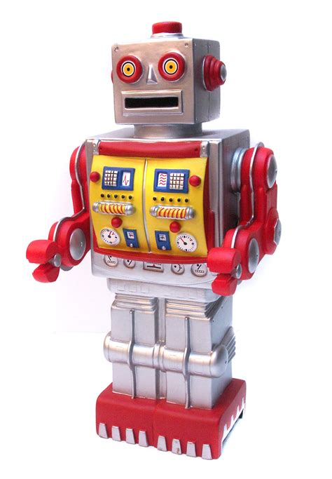 P80014 Roboter - Roboter gold-rot / Spardose - AXSE - Die