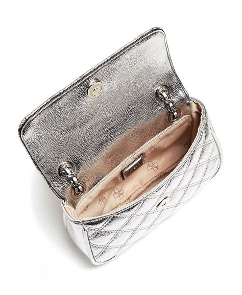 GUESS CESSILY Micro Sling Silber, Damentasche