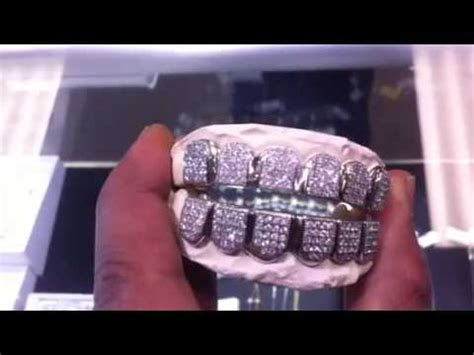 Iced out diamond grill - YouTube