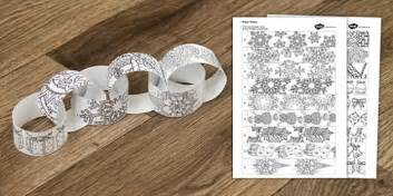 Christmas Mindfulness Colouring Paper Chain - christmas