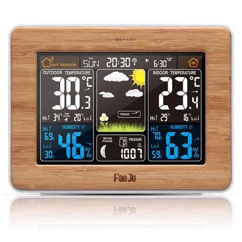 LCD Color Wireless Outdoor Sensor Weather Station Forecast