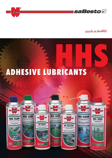 HHS Adhesive Lubricants by Würth UK Ltd