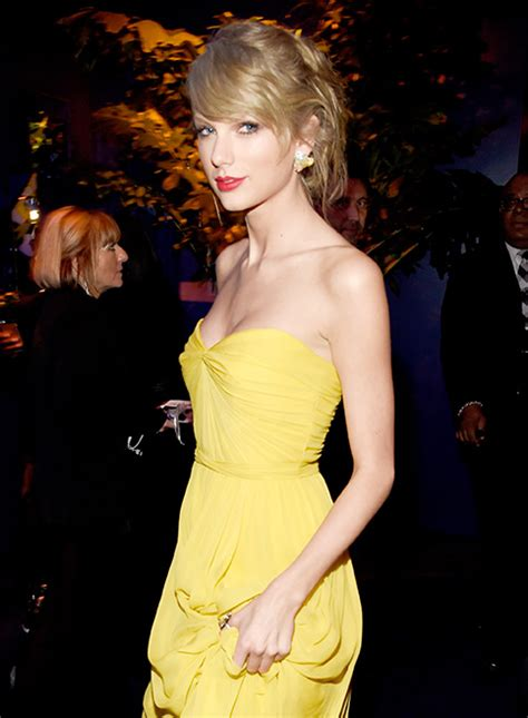 Taylor Swift Yellow Strapless Prom Dress Warner Bros