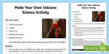 Make Your Own Volcano Science Activity - make your own