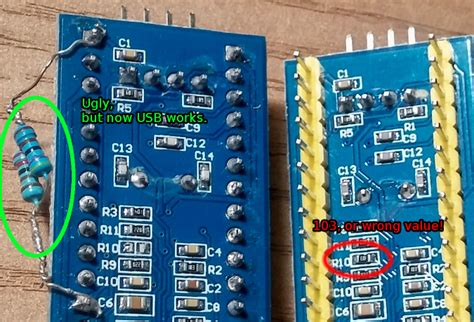 [STM32]: Overcoming wrong pullup resistor at D+ in blue pill