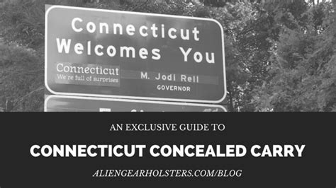 Connecticut Concealed Carry - Alien Gear Holsters Blog