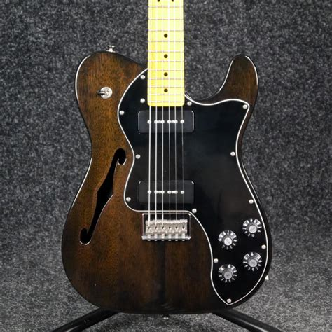 Fender Modern Player Telecaster Thinline Deluxe - Charcoal