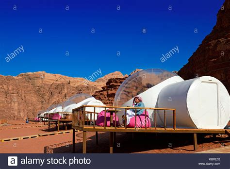 Inflatable Hotel cubes with view at the stars, Night