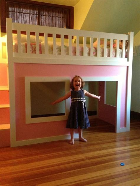 Ana White | Playhouse loft bed with stairs - DIY Projects