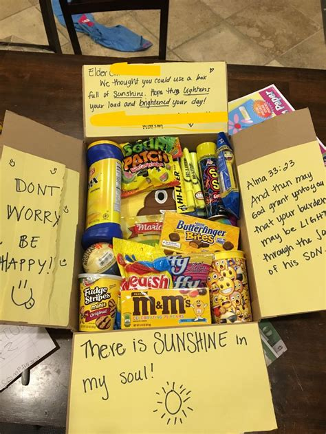 Missionary care package LDS sunshine | Cute birthday gift